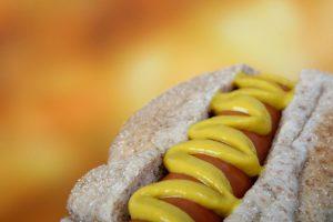 salsas del perrito caliente mostaza hot dog